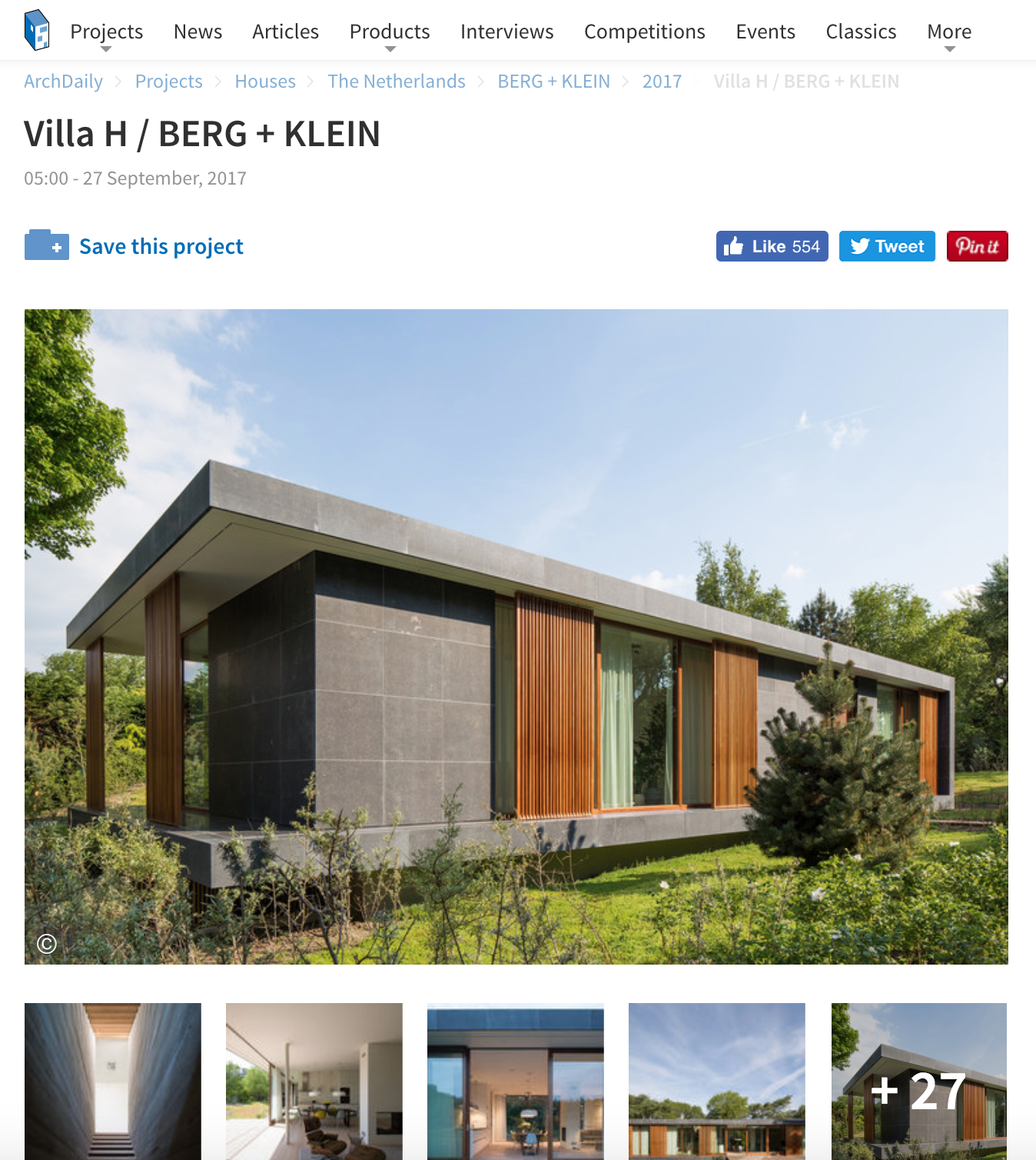 Villa H featured on ArchDaily