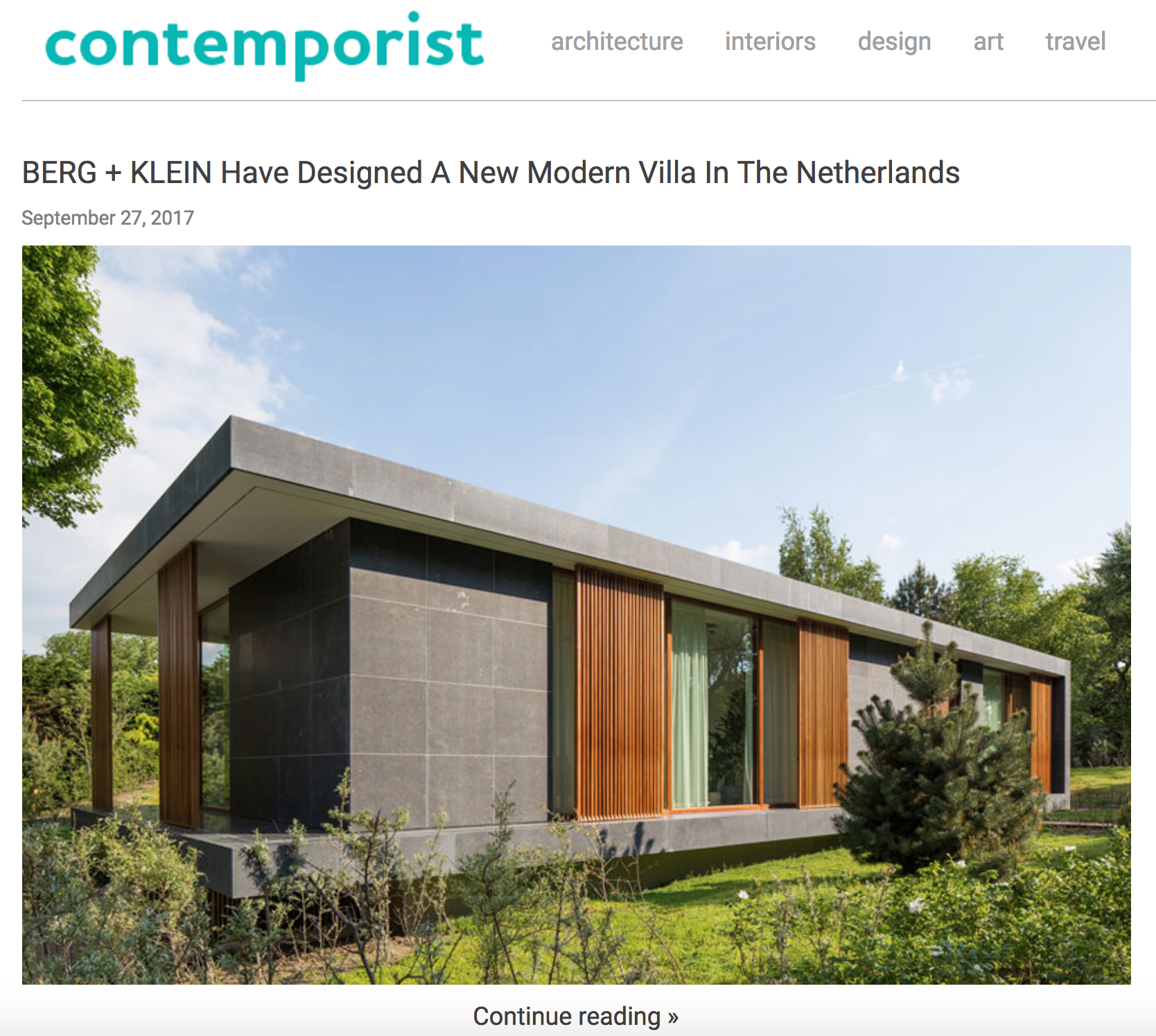 Villa H featured on contemporist